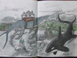 Killerwhaleandhumpback by FortuneandGlory