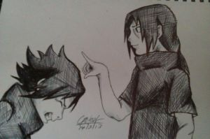 Itachi and Sasuke by DeadGotashi