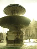 fountain at vatican by black-martin