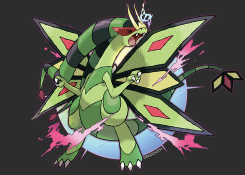 Mega Flygon by Dragonith