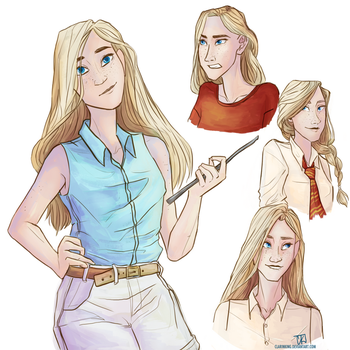 Victoire Weasley by clarinking