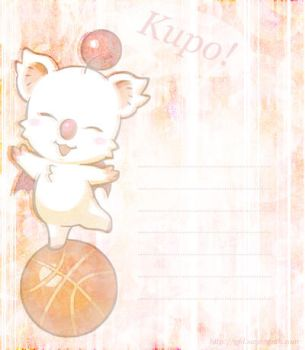 Moogle Stationary by Sunori