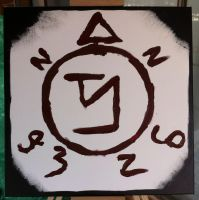 Angel Banishing Sigil Canvas by the-wire