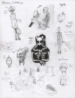 Halloween 2012 sketches by RedChao