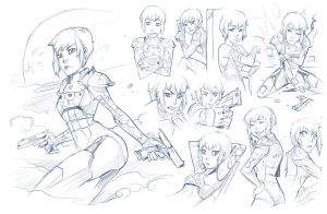 Sophie McGillicuddy Sketch Dump Commission 1 by Dreamer-Out-There