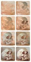 Skull oil study II, step by step by JeffStahl