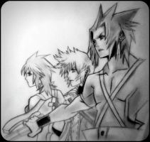 Ventus,Aqua and Terra (2) by Cate397