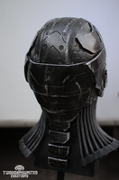 The Nullifier cyberpunk helmet - back by TwoHornsUnited