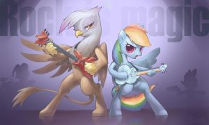 Gilda N RainbowDash rock band by BlueDrg