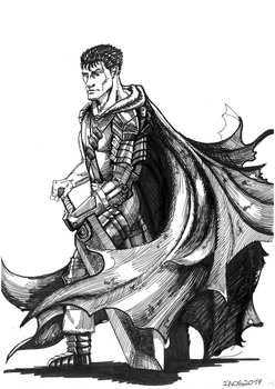 Guts - Shading Practice by hail-the-oblivious