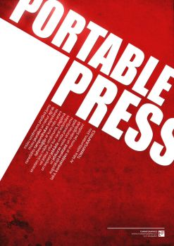 Portable Press Poster by TommyBrikman