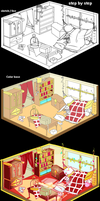 [ Step by Step ] Fire prince's bedroom by Cheapcookie
