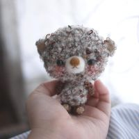 cute bear by doily