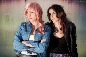 Lightning and Fang - Casual FFXIII by Yukilefay