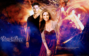 Buffy and Dean Winchester by AHewlett