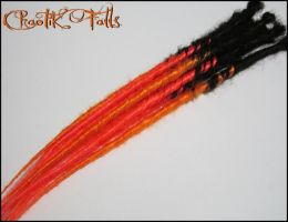 Chaotik Falls Halloween Themed Synthetic Dreads by ChaotikFalls