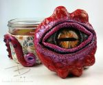 Red Confetti Octopus Stash Jar by TinfoilHalo