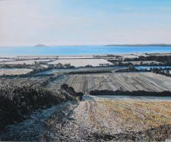 Midwinter View of Garryvoe by eastcorkpainter