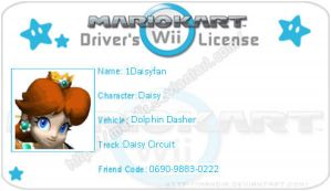 MKWII license for PrincessDaisyRocks10 by agentbananayum