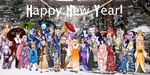 Vocaloid Collaboration: New Year Kimonos by NeoSailorCrystal
