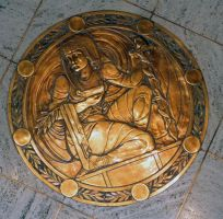 Bronze floor medallion... by drewii57