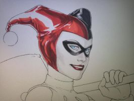 Harley Quinn - Sketch Idea 2 by CrazyBluePsychopath