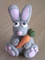 Rabbit fimo by bimbalove81
