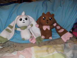 Lopmon and Terriermon Plushies by Misa-chu