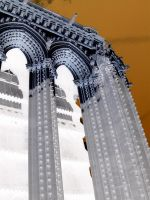 Notre Dame bell tower negative by Poj5