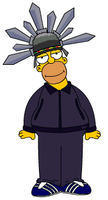 Homer Simpson as Jay Kay by PanderChan