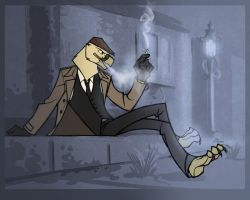 CO: Smoking gentlebird by TheTundraGhost