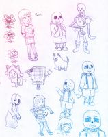 Undertale - First doodles by silsado