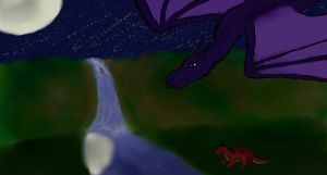 Dragons in the Moonlight by clarinetplayer