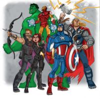 Avengers Earth's Mightest Heroes by scotlanddbarnes