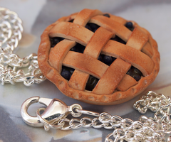 Blueberry Pie Necklace by DeliciousTrickery