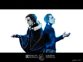 Demerzel and Daneel by gataro