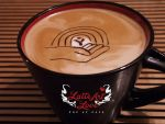 United Way logo as latte art for SEP 18 fundraiser by lifeofelle