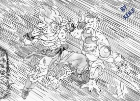 Goku Vs Freeza by LuffyWKF