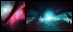 speed paintings 1 and 2 by Algorithmic