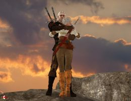 151009_Geralt_and_Ciri_'Don't_Give_Up' by McGaston
