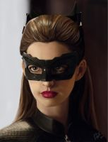 Anne Hathaway as Catwoman by leenadwish