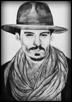 Johnny depp and his scarf by gilly15