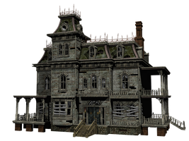 Haunted House 03 PNG Stock by Roys-Art