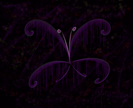 Purplue Cave Butterfly by JayaMarie