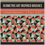 {SAI resources} Geometric Art Inspired Brushes by ASlovesLisa