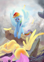 In the remains of Canterlot by CountCarbon