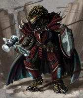 Dragonborn Paladin Kosh by CharReed