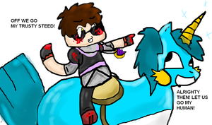 Insane!Sky and His Trusty Steed by Ask-Insane-ASFJerome