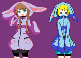 BUNNY SUITS!!!! :D by edXroy35