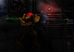 Samus and Isaac by Rofl-Iron